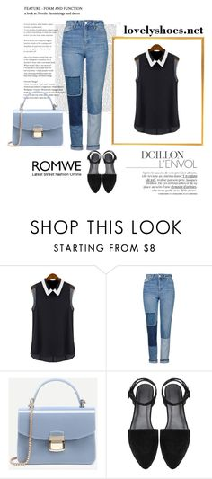 """""""Romwe 4/XIII"""" by nermina-okanovic ❤ liked on Polyvore featuring Topshop and romwe"""