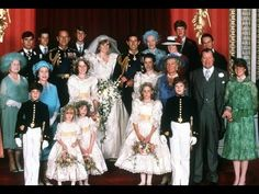 July Prince Charles marries Lady Diana Spencer in Saint Paul's Cathedral. Prince Charles and his new bride Diana, Princess of Wales, pose for a family portrait with other members of the royal family, in the Throne Room of Buckingham Palace. Charles And Diana Wedding, Princess Diana Wedding, Prince And Princess, Princess Of Wales, Princess Anne, Princess Margaret, Princess Charlotte, Prince Harry, Royal Brides