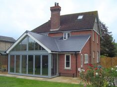 Jonathan W Burton brick and glass extension - Before After DIY Porch Extension, Single Storey Extension, House Extension Plans, Cottage Extension, House Extension Design, Glass Extension, Extension Designs, Extension Ideas, Extension Google