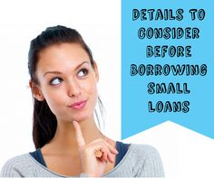 Read Article - Vital Details To Consider Before Availing Small Cash Loans Today! #smallloans #cashloans