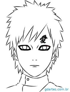 Naruto Drawings Easy, Naruto Sketch Drawing, Cool Art Drawings, Easy Drawings, Naruto Gaara, Anime Naruto, Saga Art, Naruto Merchandise, Anime Lineart