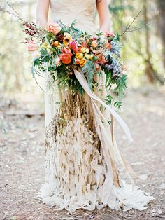 bouquet by @amyosabaevents |  Enchanting Redwoods Floral Inspiration