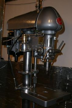 Beautiful vintage drill press! Wish all the drill presses were still made like this. For reviews and comparisons of the top drill presses on the market today, visit our website. #woodworking #drillpress #diy