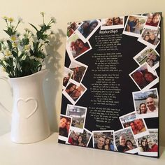 Anniversary Gift For Girlfriend Photo Collage Boyfriend Print Friendship Presents Wife Quote V . - Anniversary Gift For Girlfriend Photo Collage Boyfriend Print Friendship Presents Wife Quote Valent - Cute Birthday Gift, Birthday Gifts For Best Friend, Birthday Gifts For Girlfriend, Boyfriend Birthday, Diy Birthday, Cute Presents For Girlfriend, Mens Valentines Day Gifts, Diy Christmas Gifts For Friends, Diy Best Friend Gifts