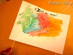 "Bible craft for the letter ""X""... eXalt his name! :-) bibl craft, letter, bible crafts"