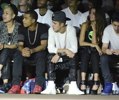 Justin Bieber attends New York Fashion Week 2013