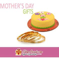 #Mother's_Day_Gifts Make her day extra special and bring smile on her face with this special Mothers Day combo. It includes a mouth watering Mothers Day Cake from Sachas along with a beautiful set of artificial Kangans. Fantastic gift to charm her.