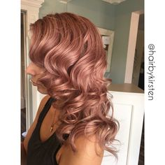 Rose gold hair #rosegold #rosegoldhair