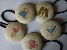 My Favourite Things Large Button Bobbles x5 by TheHomemadeHaven, £9.99