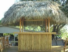 8ft x 12ft tiki hut with bar