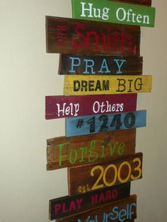 family sign from recycled pallet