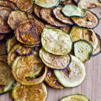 Easy Baked Zucchini Chips. Saw a recipe with these used in Nachos. Healthy alternative for tortilla chips and sounds yummo