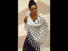 CHAL A CROCHET Violetta.Paso a paso. - YouTube Crochet Shawls And Wraps, Knitted Shawls, Crochet Scarves, Knit Crochet, Crochet Hats, Different Stitches, Afghan Crochet Patterns, Crochet Fashion, Sewing Patterns Free