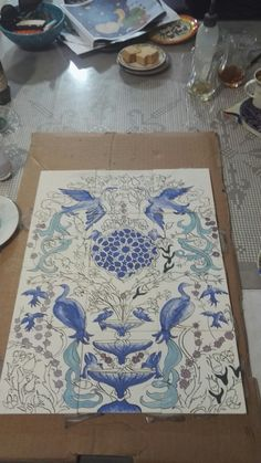 My work#çini#tile#Gülin#
