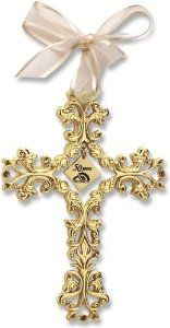 Cathedral Art Anniversary Cross Ornament - Beautiful & Traditional Anniversary Gift Idea by Mom Dad Anniversary, 50 Wedding Anniversary Gifts, Anniversary Gifts For Parents, Golden Anniversary, Anniversary Parties, Wedding Gifts, Anniversary Ideas, Wedding Ideas, Wedding Quotes