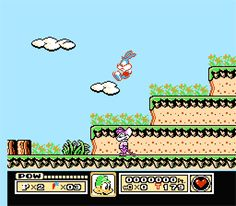 Played as Buster Bunny until I could get Plucky Duck, that's when the bunny was done for the game