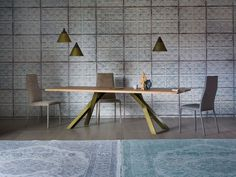 Extending wooden table GUSTAVE PLUS by Miniforms design Paolo Cappello