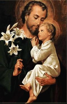 St. Joseph, SPOUSE OF THE BLESSED VIRGIN MARY AND FOSTER FATHER OF JESUS; Feast: March 19  Read more: http://www.ewtn.com/saintsHoly/saints/J/stjoseph.asp#ixzz1pUFMegF2