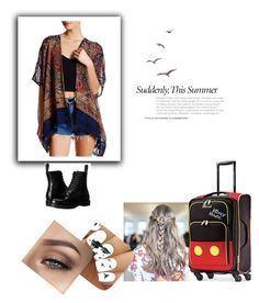 """""""Plane ride"""" by chewygames138 on Polyvore featuring Angie, Dr. Martens and Disney"""