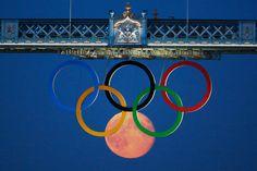 Full moon at the Olympics. London 2012.