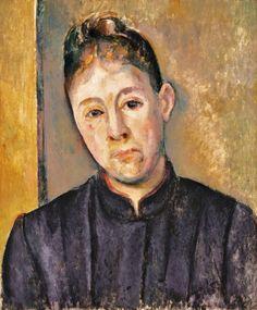 Paul Cézanne - Portrait de Madame Cézanne (1886)
