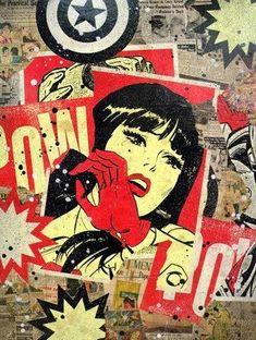 Comic Book pop art, Vintage Comics Art.