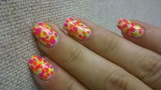 Neon dot manicure (neons by Orly)