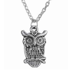 Sale 18% (2.69$) - Vintage Retro Owl Silver Animal Pendant Women Lady Sweater Necklace