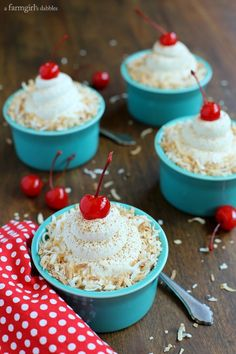 Coconut Tres Leches Cake Cups