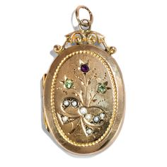Erinnerungen einer Suffragette - Schöner Medaillonanhänger der Jahre um 1910 von Hofer Antikschmuck aus Berlin // #hoferantikschmuck #antik #schmuck #antique #jewellery #jewelry
