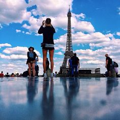 Its not really a shorter skirt she just has longer legs. #sexyParis #ساق . Have a gorgeous evening iGers  by romdhan