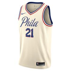 Joel Embiid City Edition Swingman Jersey (Philadelphia 76ers) Men s Nike  NBA Jersey Size Medium (Brown) 7a62859a9