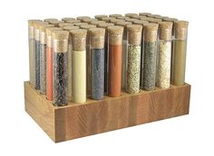 awesome spice rack. - since most herbs and spices lose potency and flavor quickly, i like to buy them in small quantities.