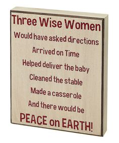 Another great find on #zulily! Cream 'Three Wise Women' Box Sign #zulilyfinds
