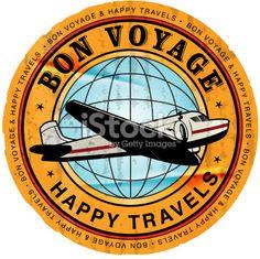 Retro Travel Sticker Royalty Free Stock Vector Art Illustration