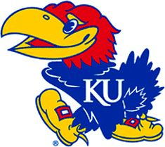 Kansas Jayhawks Logo - Tippsy looking blue bird with stylized KU in white on his chest (SportsLogos.Net)