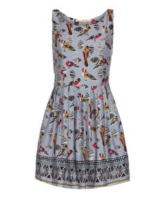 Look what I found on #zulily! Blue Budgie Fit & Flare Dress by Iska London #zulilyfinds
