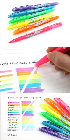 JetPens $9.90 Pilot FriXion Light Erasable Highlighter - 6 Color Set