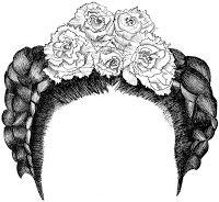 365coiffures: défi d'Anne : les tresses de Frida Kahlo