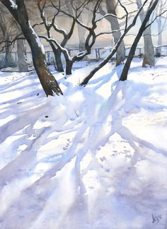 February 2 by ~mashami on deviantART (watercolor painting) #Art