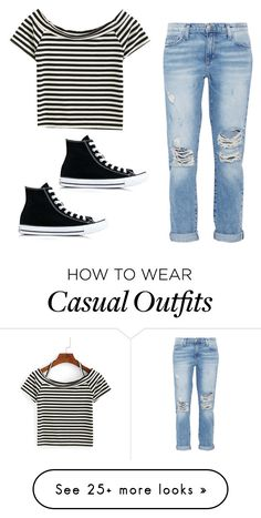 """""""Casual"""" by jenna19monzela on Polyvore featuring Current/Elliott and Converse"""