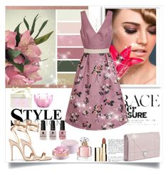 """""""Untitled #1172"""" by misaflowers ❤ liked on Polyvore featuring Bomedo, Chi Chi, D.L. & Co., Clarins, Guerlain and Victoria's Secret"""