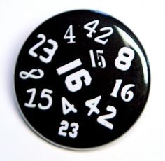 The Numbers Random - Button Pinback Badge 1 1/2 inch