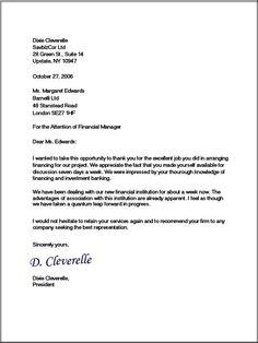 Full Block Format Business Letter
