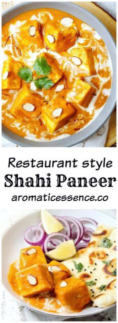 Restaurant style Shahi Paneer (Paneer simmered in  a luscious. creamy and nutty onion-tomato curry). Step-by-step recipe with pictures to make Shahi paneer. #shahipaneer #Paneer #vegetarian #northindiancuisine @aromaticessence