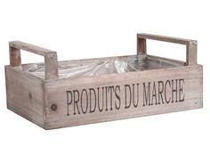 Caja de madera o macetero