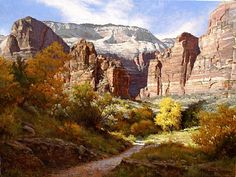 Canyon Majesty by Mark Haworth Oil ~ 36 x 48