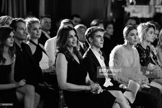 (L-R) Kaia Gerber, Rande Gerber, Rebecca Romijn, Cindy Crawford, Presley Gerber, Hailey Baldwin and Paris Jackson (age 18) attend the Daily Front Row's 3rd Annual Fashion Los Angeles Awards at Sunset Tower Hotel on April 2, 2017 in West Hollywood, California.