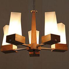 Chandelier,5 Light,Northern Europe Style Restaurant Lamp Metal - CAD $ 531.99