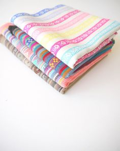 Four pack of South American Andean fabrics. Perfect for creating home decor, clothing & accessories #tribal #aztec #diy #etsy #textiles